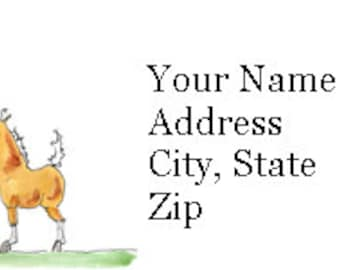 Mare and Foal Return Address Labels -- 120