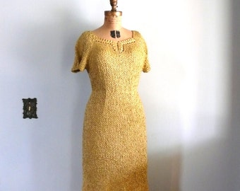 1960s vintage dress // Golden Ribbon Dress