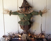 Primitive Folk Art Fall Harvest Scarecrow Grungy Art Doll Makedo Thanksgiving ofg hafair ab4b