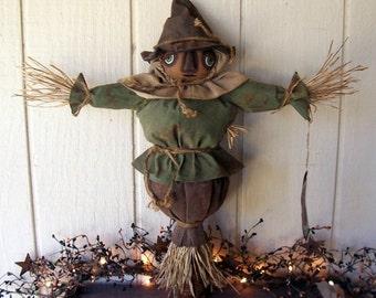 Primitive Folk Art Fall Harvest Scarecrow Grungy Art Doll Makedo Thanksgiving ofg hafair ab4b