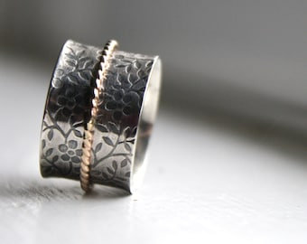 Sterling Silver Spinner Ring - Made to Order