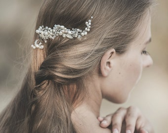 Wedding Hair Comb, Wedding Headpiece , Pearl Hair Comb , Wedding Hair Vine, Ivory Pearl Hair Comb , Bridal Hair Accessories