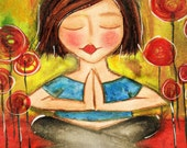 Love and Light to you NAMASTE yoga Art Card