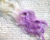 """SALE the O R C H I D … Orchid from the FLORAL collection synthetic hair clip in White blonde into Purple lavender 18/20"""" long"""