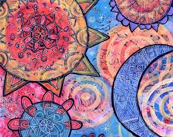 Mandala Gallery Wrap Canvas Print - Fiesta de Ano Nuevo