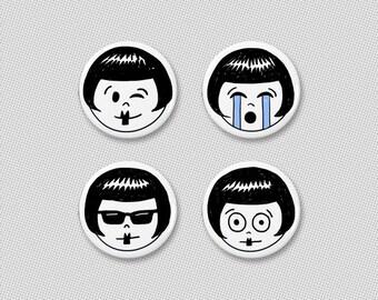 flapper emoji button pack #2