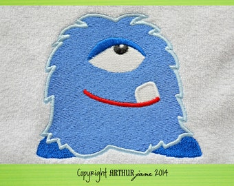 Monster 5, INSTANT DOWNLOAD, Embroidery Design for Machine Embroidery 4x4