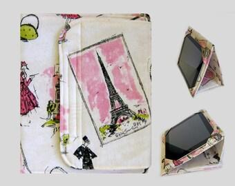 Galaxy Tab S2 Case, Fire HD 10 Case, Nexus 9 Case, Kindle Fire HDX 8.9 Case, Samsung Galaxy Tab 10.1, Nexus 10 Case Pink Paris