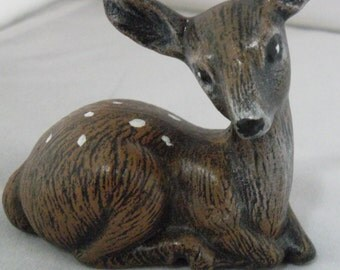 Vintage Ceramic Spotted Fawn Deer