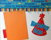 12x12 Layout kit Birthday Boy 2 Pages