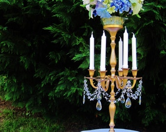 Princess Arabella Tall Golden Taper Style Wedding Candelabra MADE TO ORDER