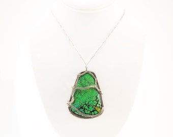 Deep Sea of Green Turquoise Necklace