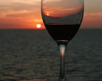 Photograph Red Wine in Sunset