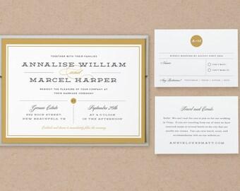 Printable Wedding Invitation Template | INSTANT DOWNLOAD | Elegant | Word or Pages | Easy DIY | Editable Artwork Colors