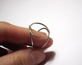 Sterling Silver Geometrical Circle Ring