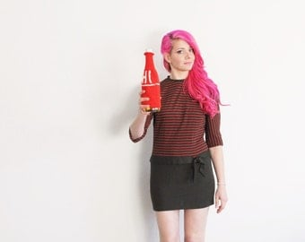 a warm hi hello from me and my booze . knit bottle cozy .sale s a l e