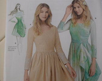 Simplicity 1196 Easy to Sew Misses Dress With or Without Drape by Leanne Marshall