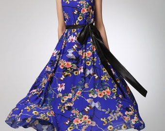 Maxi flower dress chiffon women dress prom dress (1259)