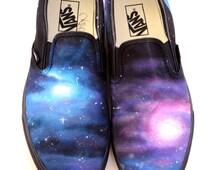 Custom Vans Shoes - Galaxy Painting
