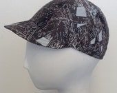 Retro bike cap, unisex, bicycle, rain hat, fabric #82, limited edition. Free shipping in the US.