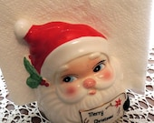 Vintage Santa Napkin Holder by Josep Originals