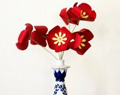 Heirloom Poppies Paper Flowers Bouquet, Home Decor, Paper Art, Handmade Flowers, Table Decor, Wedding Decoration, home decor, Spring Flowers