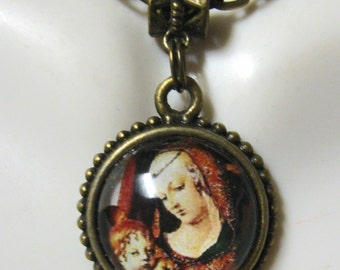 Madonna and child necklace - AP17-612 - 50% OFF