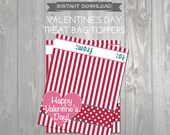Valentines Treat Bag Toppers - Printable Valentine Favors - Kids Valentine Exchange - DIY Printable Valentine Bag Topper - Valentine Treats