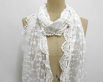 Lace Scarf Lace Shawl Spring Scarf Teen Girl Scarf Summer scarf Lace shawl Bridesmaid gift