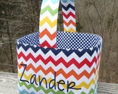 Personalized Easter Basket Chevron Easter Basket Easter Bucket for boys