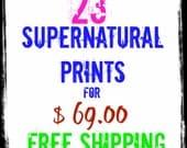 Supernatural Set 23  Prints for  69 bucks free shipping