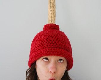 Plunger Hat, Gag Gift, Funny Hat, Toilet Hat, Winter Hat, Holiday Gift, Halloween Costume, Crochet Beanie, Children, Men, Women, Clothing