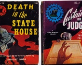Two Extremely Rare PULP FICTION DIGEST Mysteries from the 1940s