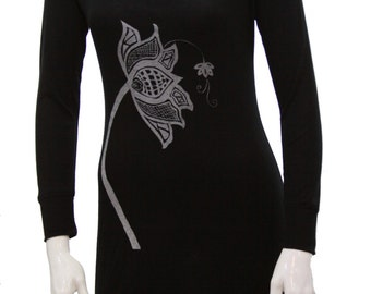 Lotus | Sweater tunic dress | Soft off shoulder cocktail dress