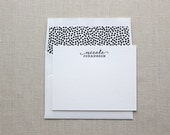 RESERVED for Alyson- Letterpress Personalized Stationery with return address and envelope liners