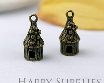 8pcs High Quality Antique Bronze Lodge Charm / Pendant (10469)