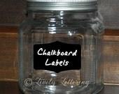 Chalkboard Decals (set of 5) canister decals, chalkboard pantry labels, kitchen organization, canister labels, blackboard vinyl (W01700)