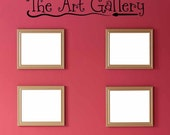 The Art Gallery wall decal, artwork display decal, art display, artist decal, kids wall decals, playroom wall decals, vinyl lettering W04200