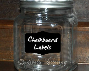 Set of 5 Chalkboard Labels, Canister Labels, Pantry Storage, Kitchen Organization, Chalkboard decals for writing notes and messages LL1700