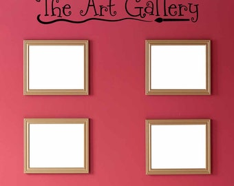 The Art Gallery wall decal, artwork display decal, art display, artist decal, kids wall decals, playroom wall decals, vinyl lettering PC4200