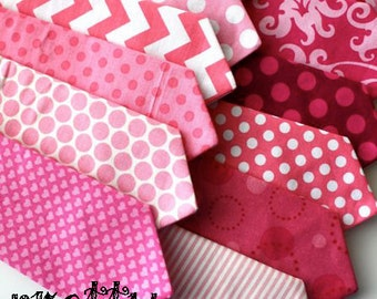 Little and Big Guy Necktie Tie - Pretty in PINK Collection - (Newborn-Adult) - Baby Boy Toddler Teen Man - (Made to Order) - Valentine's Day