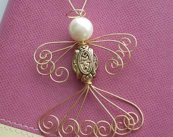 Angel Christmas Ornament, Christmas Ornament, Christmas Angel, Angel Ornament, Handmade Christmas Ornament, Beaded Christmas Ornament, O004