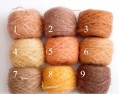 Hand dyed combed Mohair yarn - waldorf doll hair. sale -