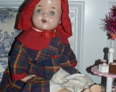 Antique Composite Sweet Baby Doll with Teeth