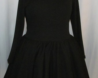 Cute All Black Knit Lolita Cosplay Costume Customizable Color Victorian Steampunk