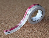 Number Pink R - Japanese mt ex Washi Paper Masking Tape, Adhesive Tape, Card Decoration, Planner Washi, Decorative Tape, Journal, MTEX1P56