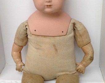Antique Baby Doll 1916-1922 - Georgian Antique Doll - Rare Original Doll - Bisque Head Doll