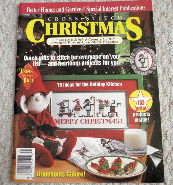 Cross stitch christmas a better homes and gardens special Better homes and gardens christmas special