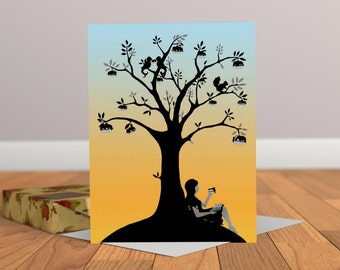 Tree of Cake Card - Tree Greeting Card - Birthday Card - Thank you Card - Autumn Card