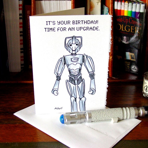 Doctor Who Birthday Card Cybermen Time for an Upgrade – Doctor Who Birthday Card